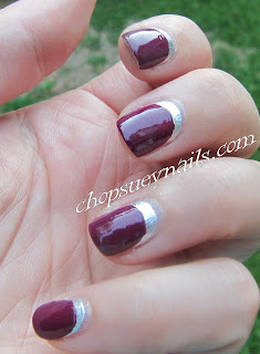 Zoya and OPI Ruffian Manicure Silver and Purple