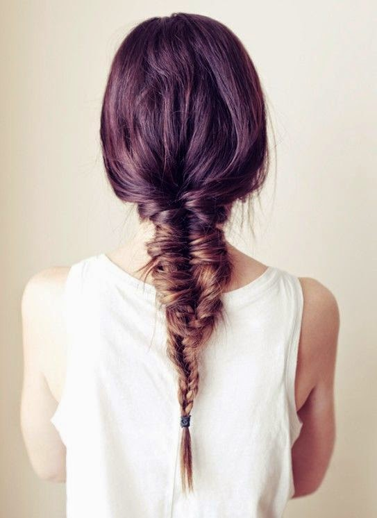Gaya Rambut Fishbone Braid