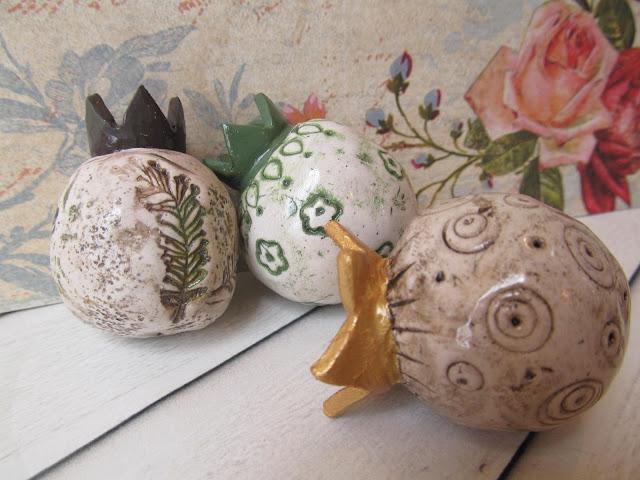 ראש השנה, חימר פולימרי, פימו, הילה בושרי,hillovely, מתנה לראש השנה, מתנת לחגים, רימונים לראש השנה,