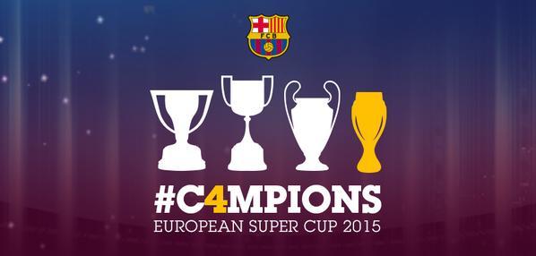 O Barça é o novo SUPERCAMPEÃO da EUROPA