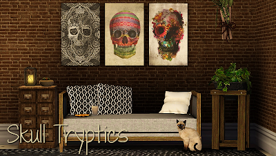 My Sims 3 Blog: Skull Tryptics by Ziva
