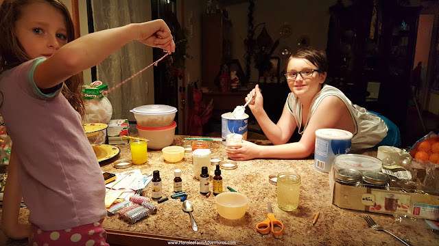 making candles for Christmas