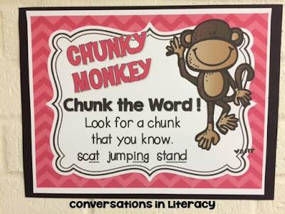 Chunky Monkey Reading Strategy