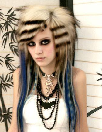 medium length emo hair. Girls Emo Hairstyle Long Hair