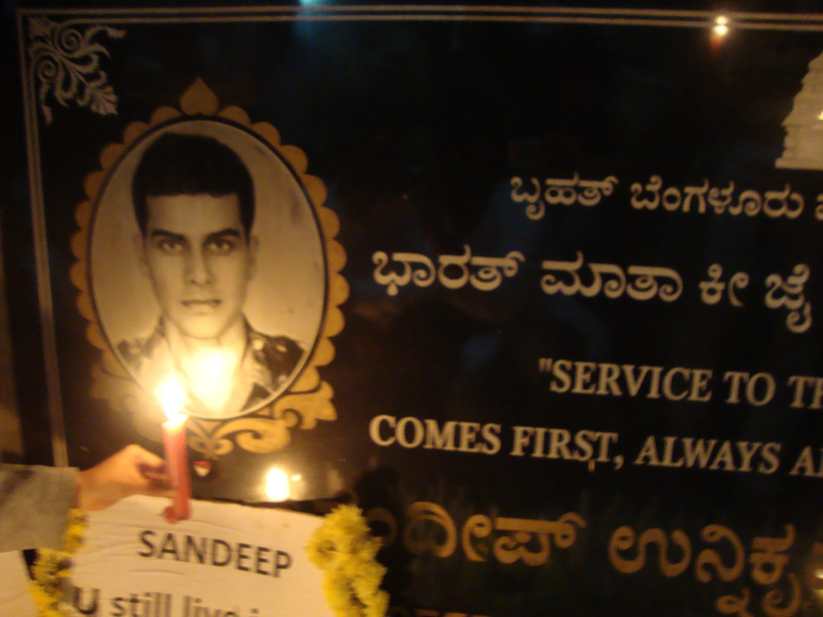 unnikrishnan who lost his life at taj attack In response to criticism of the time taken by nsg units to arrive in november 2008 mumbai attacks,  major sandeep unnikrishnan and  niranjan lost his life .