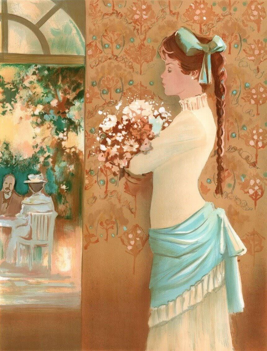 ernard Peltriaux Jeune fille au bouquet