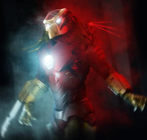 Predator con la armadura de Iron Man, qué canguelo