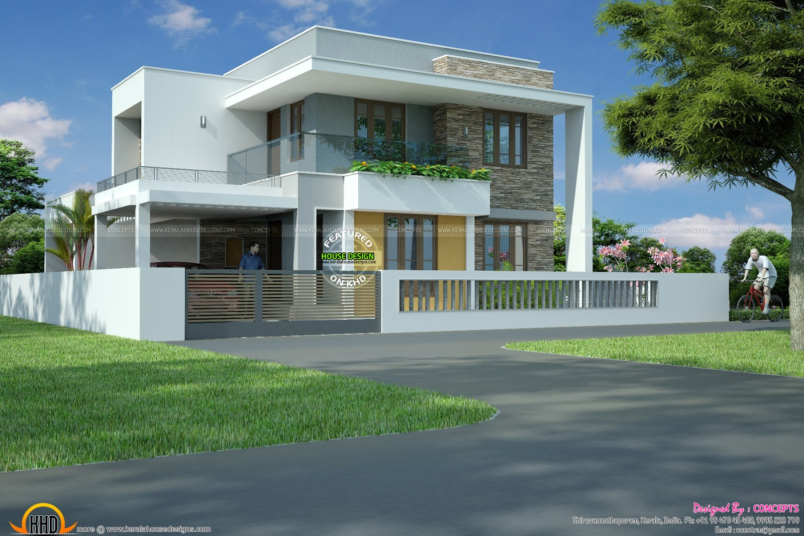 4 bhk house with plan kerala home design and floor plans for Home house design