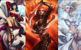 ahri katarina sona league of legends lol girls champion hd wallpaper