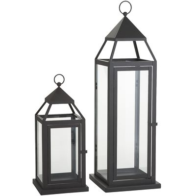 PIER 1 BLACK METAL LANTERNS
