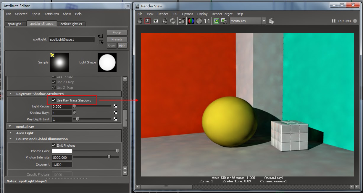 GI Render Setting in Maya 13