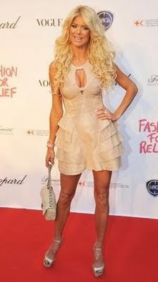 Victoria Silvstedt Herve Leger Perforated
