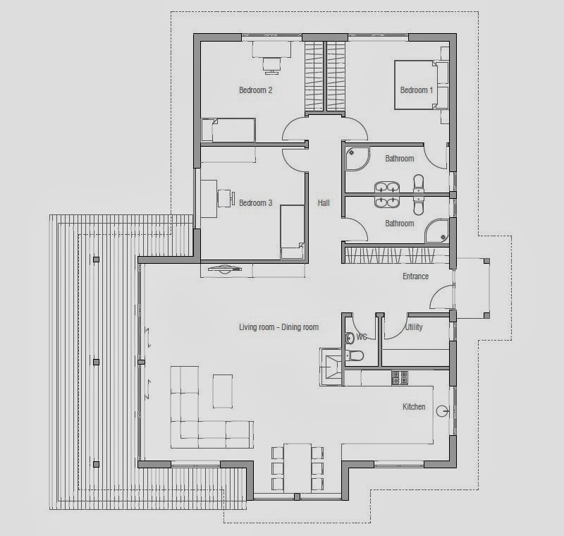 Affordable home plans modern house plan ch146 for Affordable housing floor plans