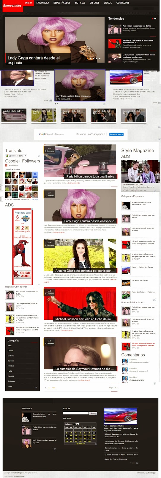 Plantillas Blogger – Línea Style Magazine