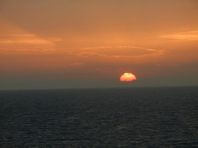 Sunset from Lido Deck on Friday, photo by Ruth