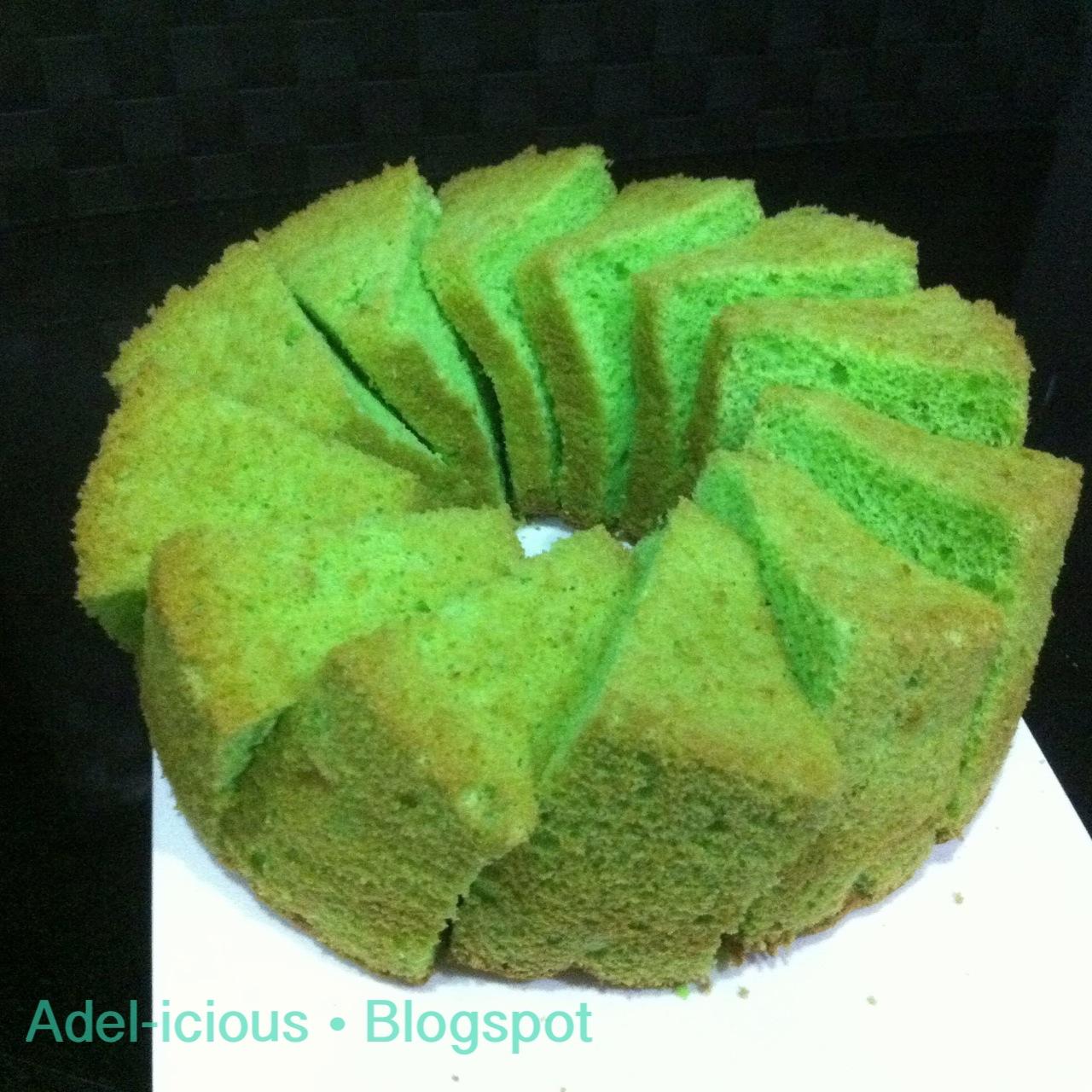 "Pandan Chiffon Cake (makes 10"" tube tin)"