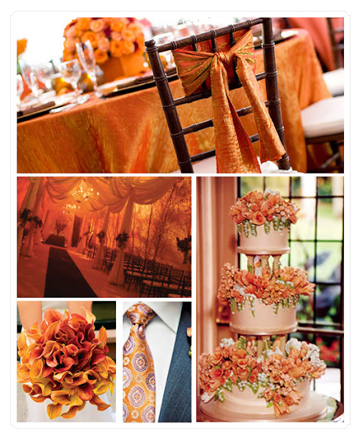 DECORAR BODA TONOS NARANJA WEDDING ORANGE