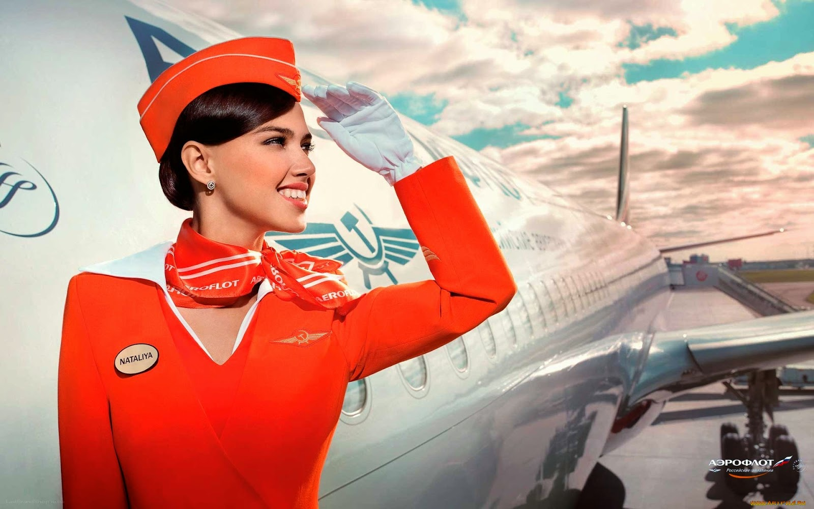 Air hotess cabin crew flight attendant dangling in plane 7