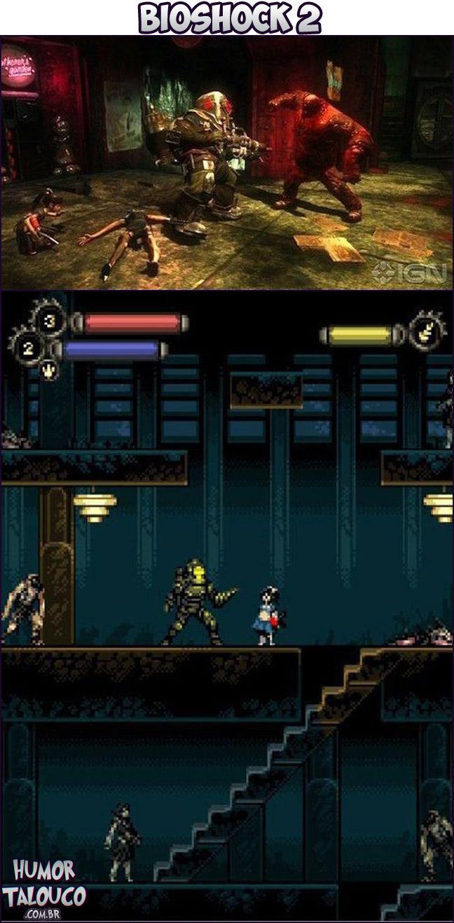 Games Atuais com Gráficos de Super Nintendo - Bioshock 2