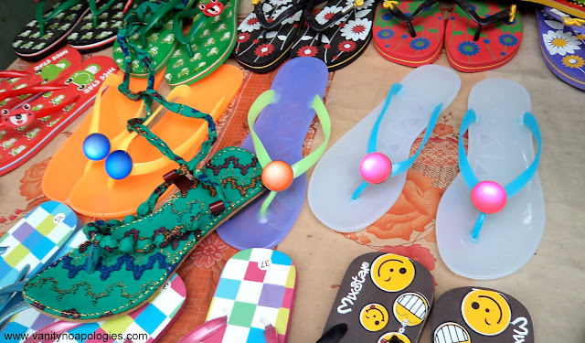 plastic colourful shoes