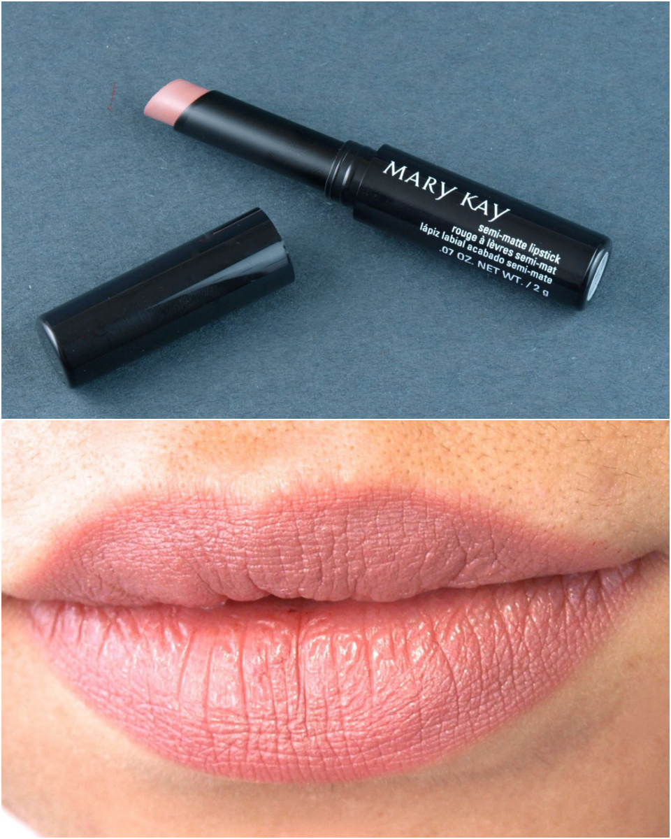 fall 2014 mary kay limited edition midnight jewels collection semi-matte lipstick in pink moonstone review and swatches