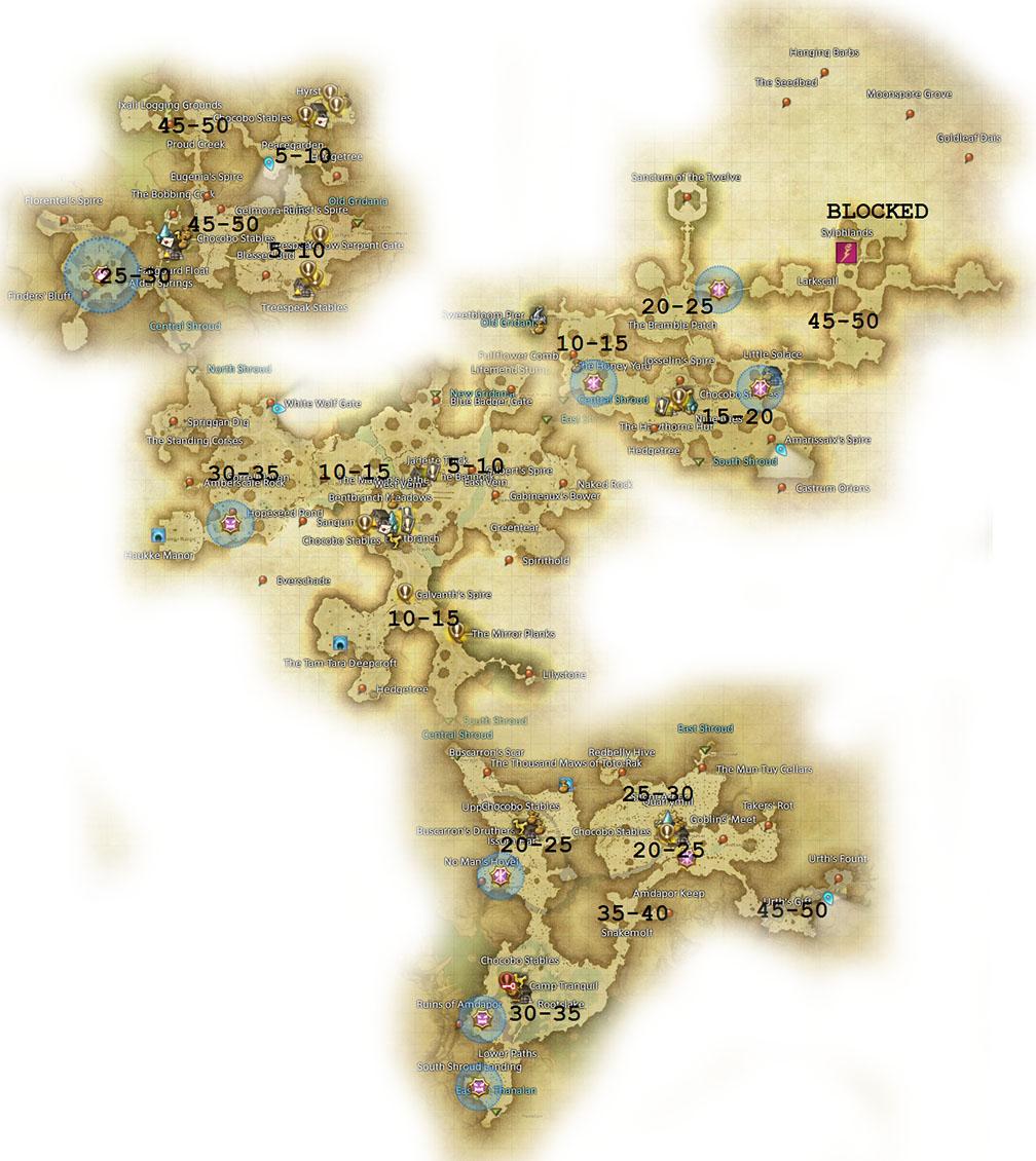 FF14 The Black Shroud Map