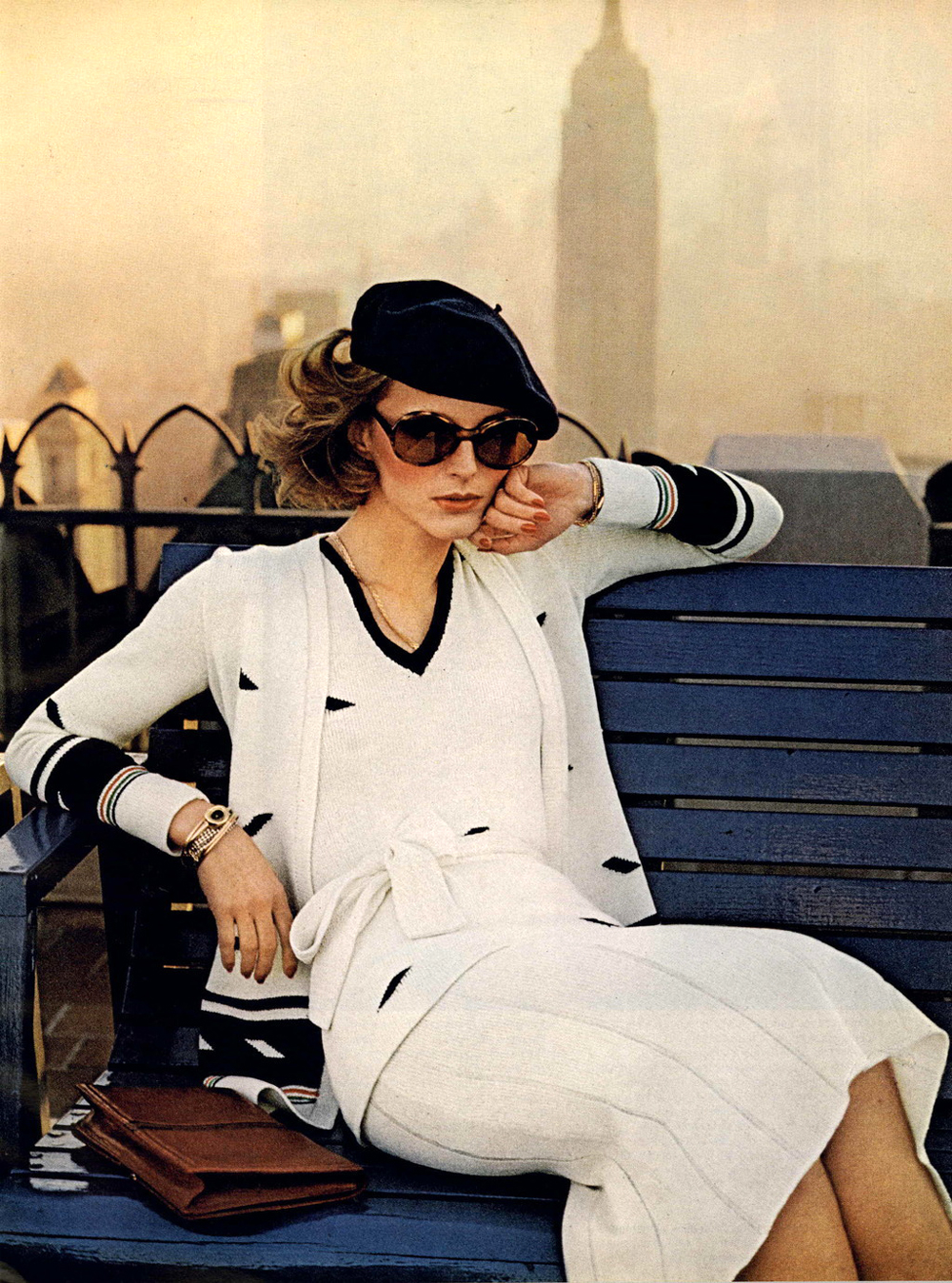 Classic navy and white outfit idea from Vogue 1974 / 1970s style / via fashioned by love british fashion blog