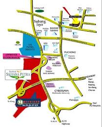 peta ke Bandar Saujana Putra