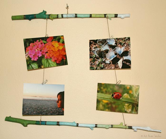 Un marco de fotos muy natural - Esturirafi - http://esturirafi.blogspot.com.es/