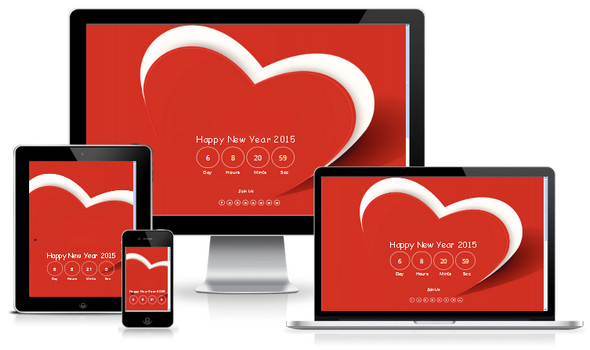Happy New Year Portfolio Responsive Blogger Template