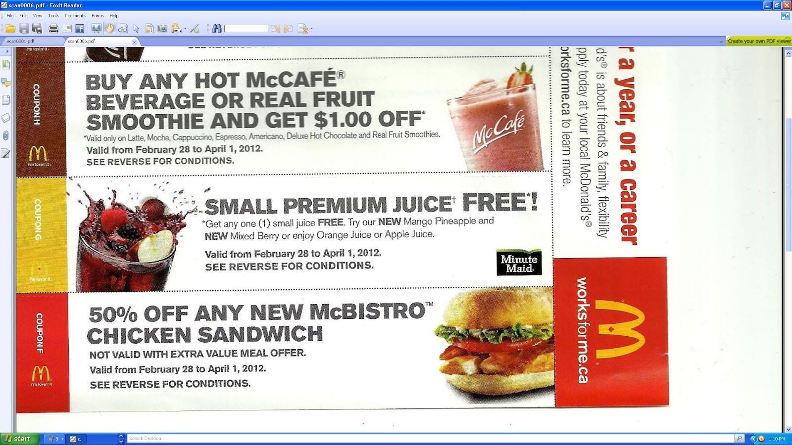 "Feb 17,  · I got some coupons in the mail from McDonald's yesterday! I think that's the first time that's ever happened. They actually weren't even addressed to me, but rather to ""Resident"" at my address. Either way, I don't care it's free coupons! McDonald's has been heavily promoting their new Fruit & Maple Oatmeal."