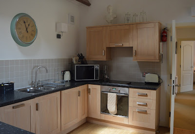 Waterside view cottage kitchen, Alnmouth, North East Family Fun Review