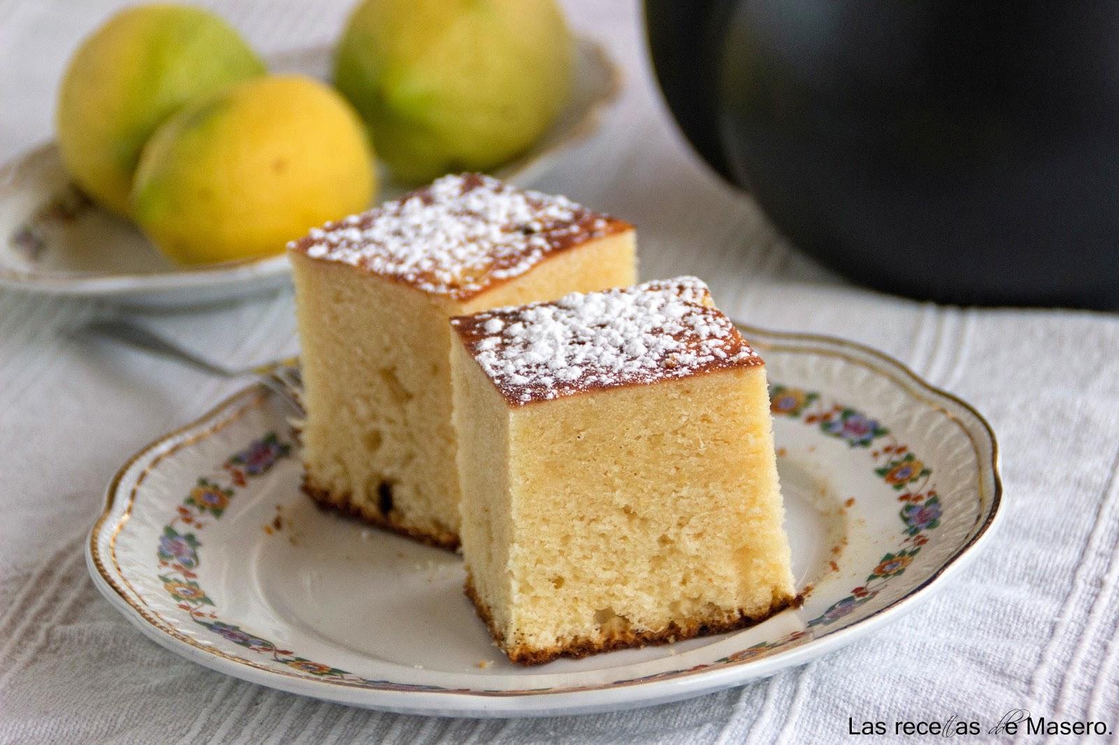 Las recetas de masero bizcocho esponjoso de lim n for Bizcocho limon esponjoso