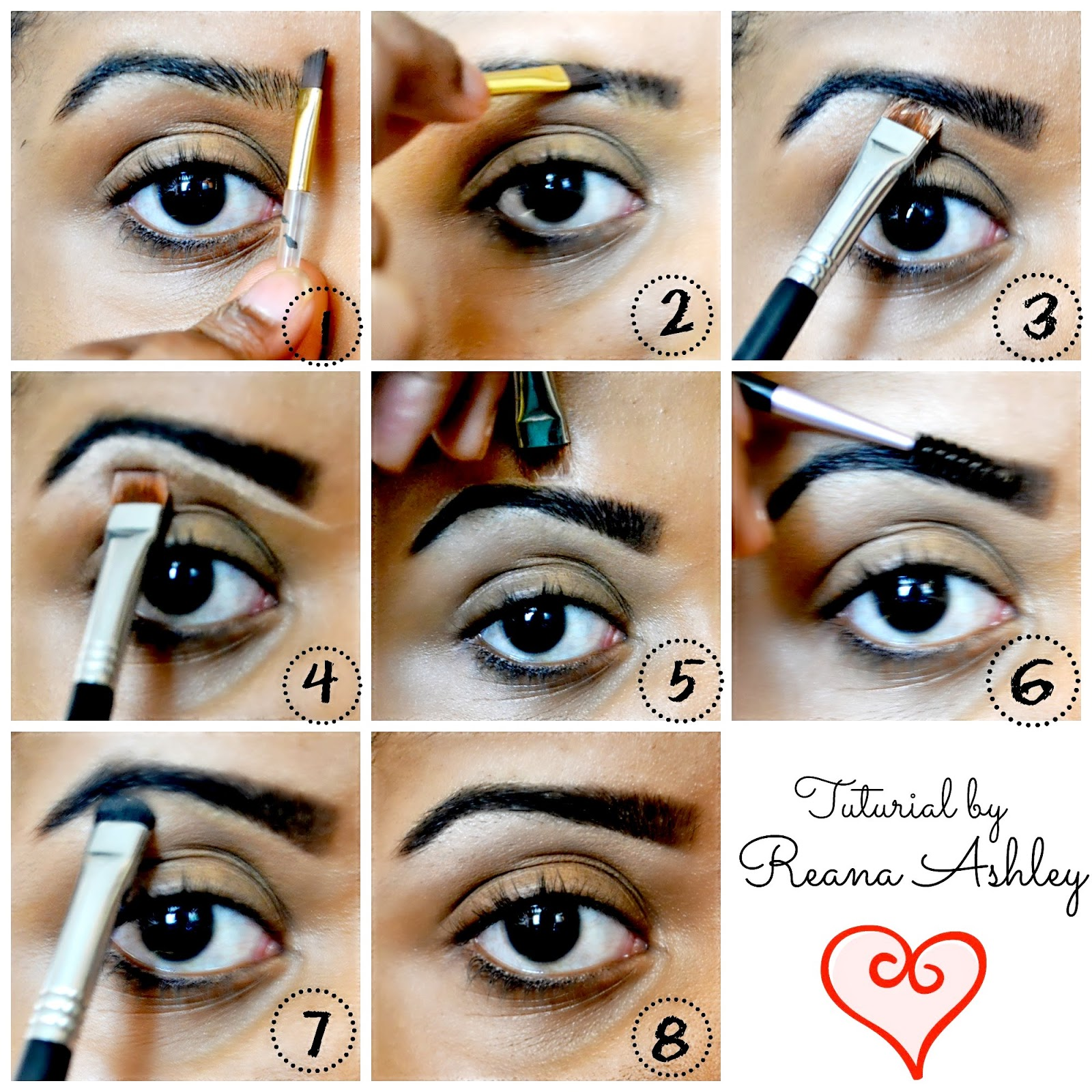 How To Fill In Your Brows Using Too Faced Brow Envy Reana Ashley
