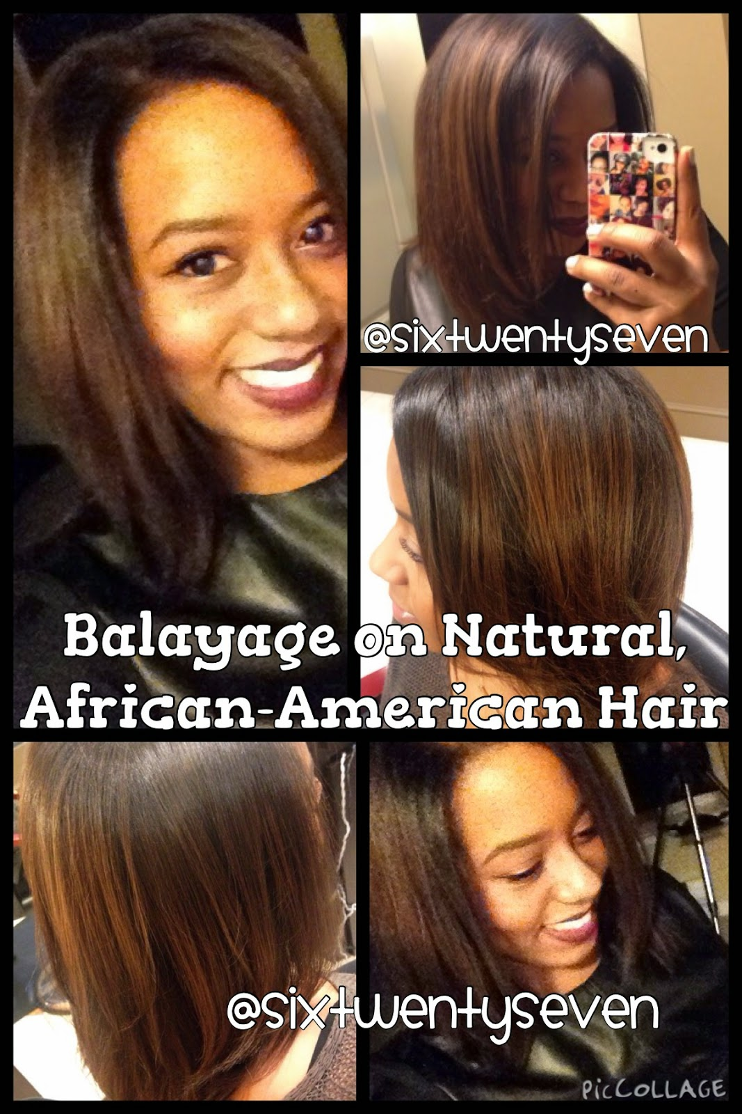 Six Twenty Seven: Balayage results on Natural, African-American Hair