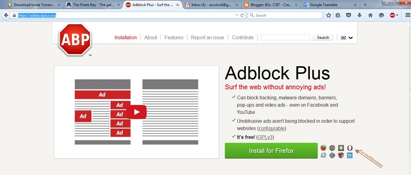 """Résultat de recherche d'images pour """"surfing web without ads"""""""