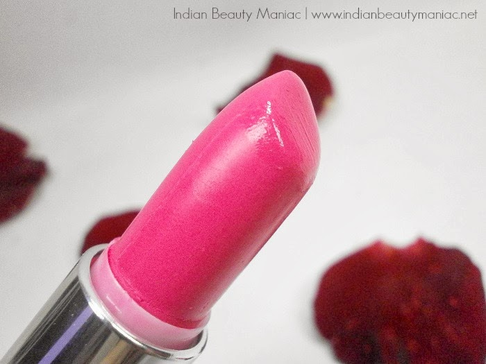 Maybelline Newyork Pink Alert Lipstick in POW 2 closeup, review, swatch