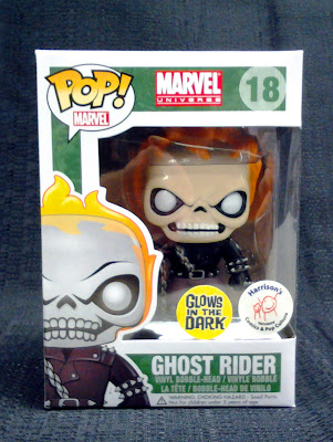 Harrison's Comics Exclusive Glow in the Dark Ghost Rider Pop! Marvel Vinyl Figure Bobble Head by Funko