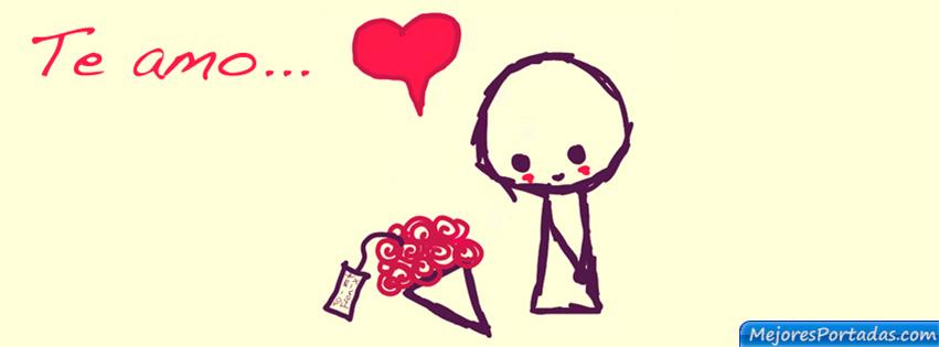 corazón rojo Te amo