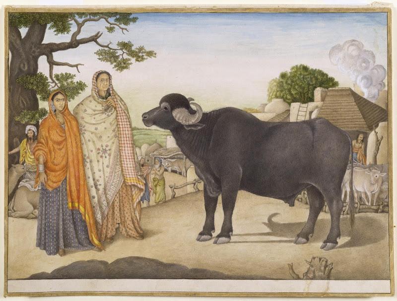 Village scene, Rania, near Delhi - c1816