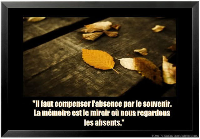 Une citation sur l'absence en image