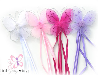 Fairy butterfly wings wands