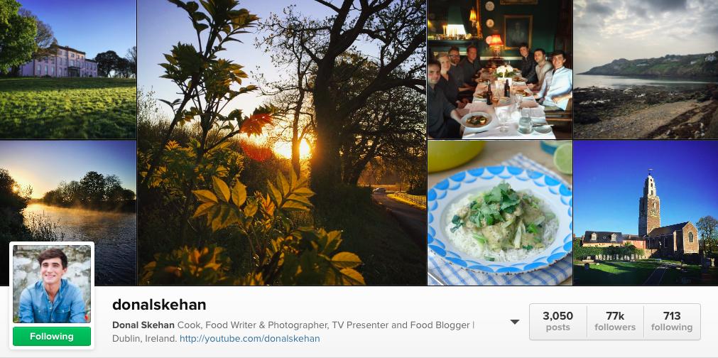 6 Irish Food Instagram to follow - Donal Skehan