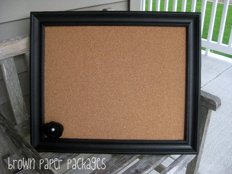 Diy framed corkboard simply kierste design co for Diy cork board