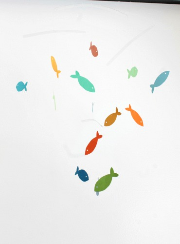 colorful fish mobile how to #baby room #nursery #paper #diy #craft