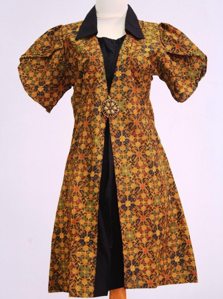 Model desain dress pendek batik unik terbaru