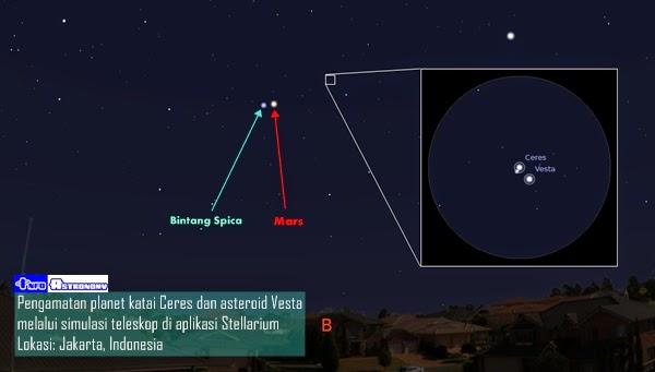 Planet Katai Ceres akan Berkonjungsi dengan Asteroid Vesta