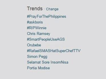 Hastag #PrayForThePhilippines Ramai di Twitter