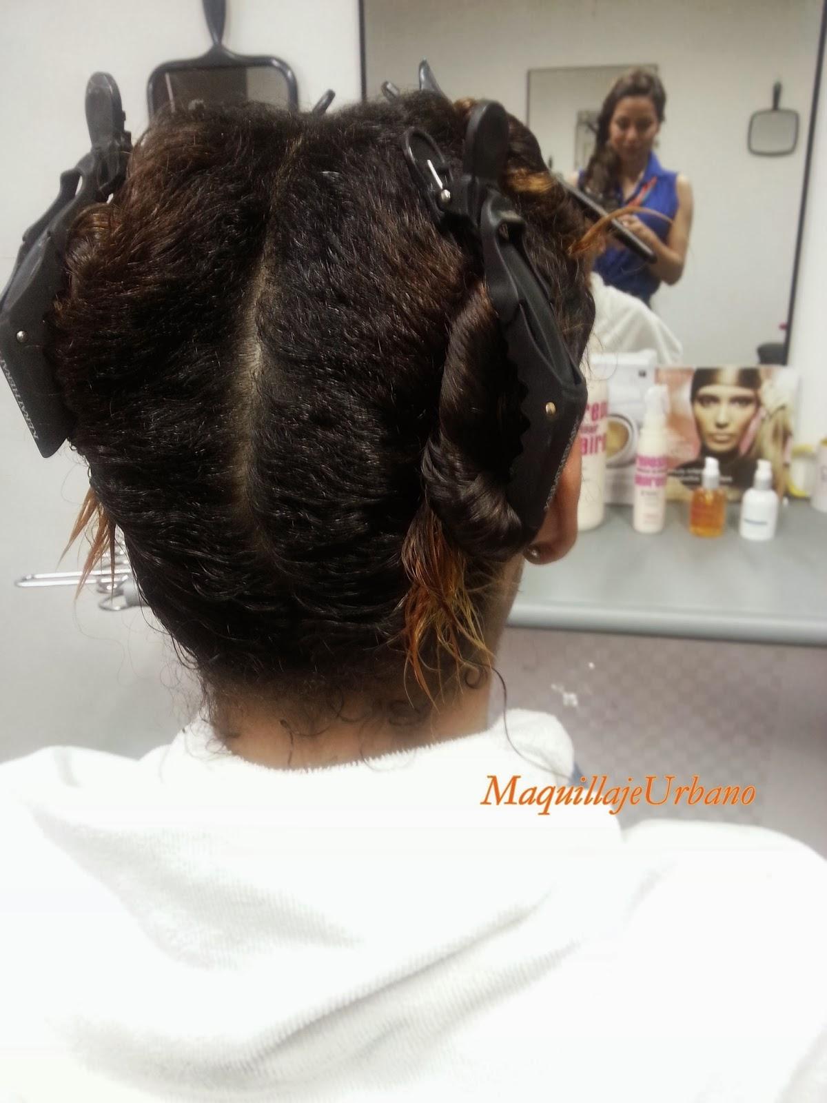 dividiendo el cabello
