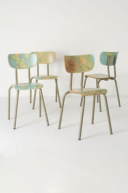 Geography Lesson Chair From Anthropologie
